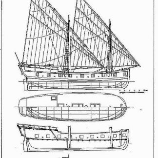 Galley Us Washington 1776 ship model plans