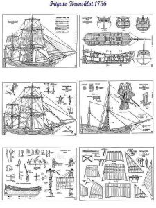 Hooker Kronshlot 1736 ship model plans