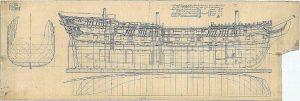 Indiaman East Agincourt 1796 ship model plans