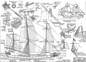 Indiaman East Batavia 1628 ship model plans