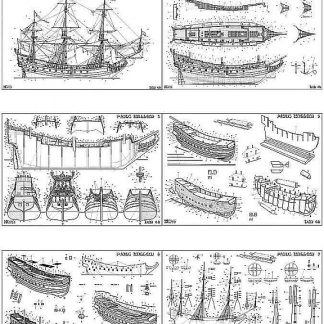 Indiaman East Prins Willem 1651 ship model plans