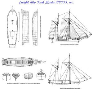Ketch Karl Und Marie XIXc ship model plans