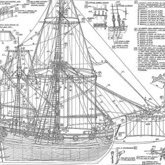 Ketch Nonsuch 1650 ship model plans