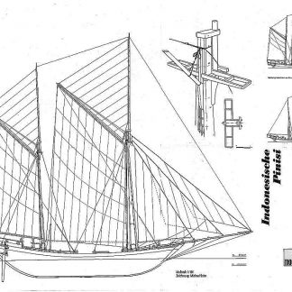 Ketch Phinisi (Indonesian) ship model plans
