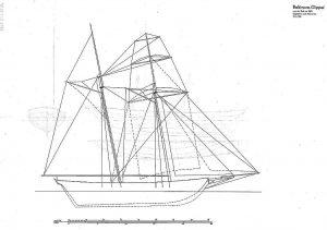 Schooner 1820 - Baltimore ship model plans
