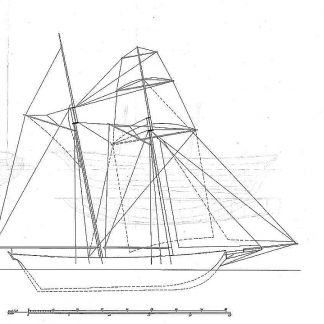 Schooner 1820 - Baltimore ship model plans