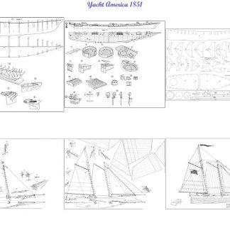 Schooner America 1851 ship model plans