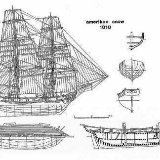 Schooner American Snow 1810 ship model plans