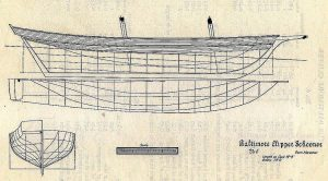 Schooner - Baltimore No.6 ship model plans