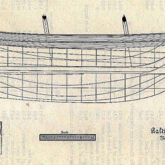 Schooner - Baltimore No.6 ship model plans