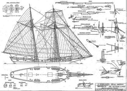 Schooner Berbice 1780 - Baltimore ship model plans