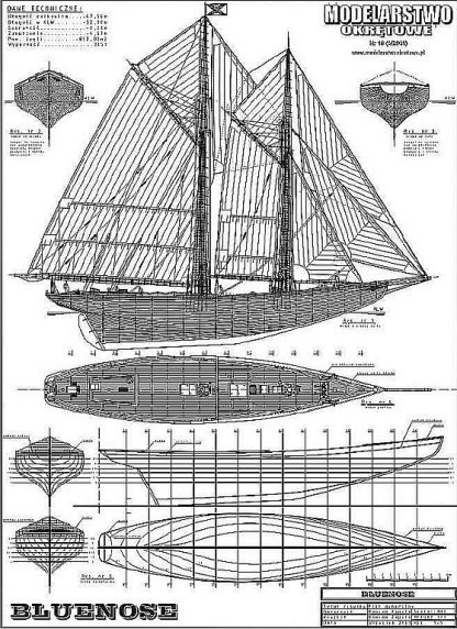 Schooner Bluenose 1921 ship model plans