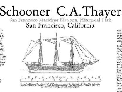 Schooner C.A. thayer 1895 - Baltimore ship model plans