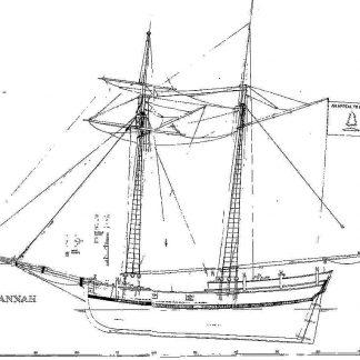 Schooner Colonial Uss Hannah 1763 ship model plans