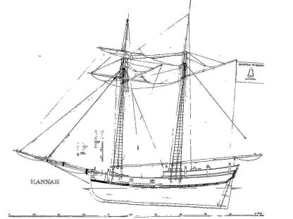 Schooner Colonial Uss Hannah 1763 ship model plans