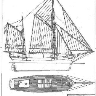 Schooner Condor 1875 ship model plans