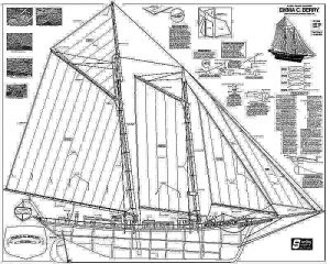 Schooner Emma C Berry 1933 - Baltimore ship model plans