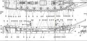 Schooner Enterprise 1779 ship model plans
