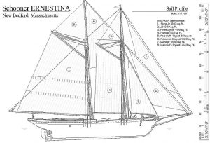 Schooner Ernestina 1894 - Baltimore ship model plans