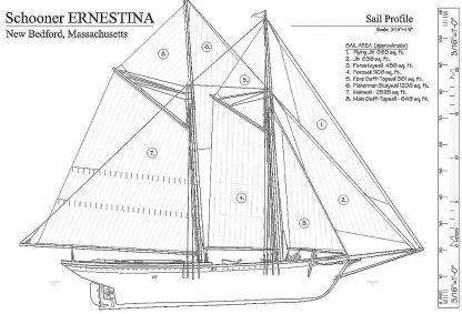 Schooner Ernestina 1894 - Baltimore ship model plans
