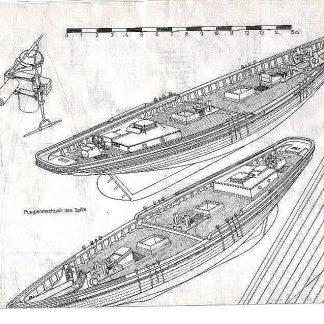 Schooner Fishing Benjamin W Latham 1902 ship model plans