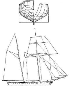 Schooner Grecian XIXc ship model plans