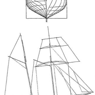 Schooner Grecian XIXc ship model plans
