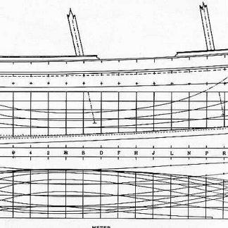Schooner Groden 1867 ship model plans