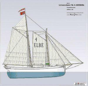 Schooner Groden 1906 ship model plans