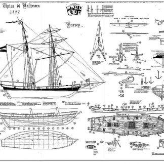 Schooner Harvey 1848 - Baltimore ship model plans