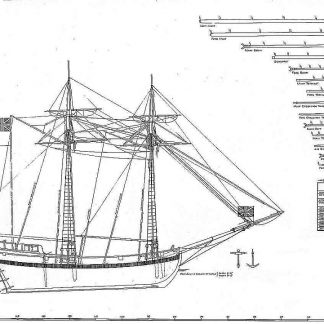 Schooner HMS Chaleur 1764 ship model plans