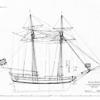 Schooner HMS Halifax 1768 ship model plans
