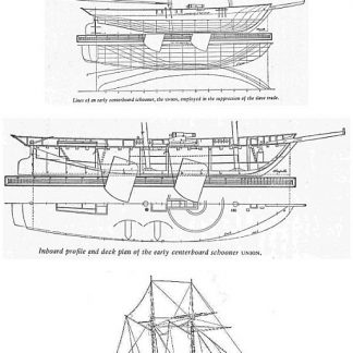 Schooner HMS Union 1828 ship model plans