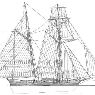 Schooner Le Jacinte 1825 ship model plans