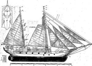 Schooner Leningrad 1938 ship model plans
