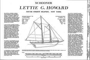 Schooner Lettie G Howard - Baltimore ship model plans