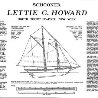 Schooner Lettie G Howard - Baltimore ship model plans