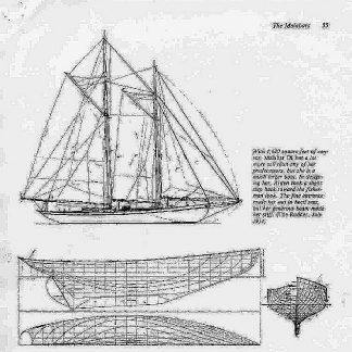 Schooner Malabar XXc ship model plans