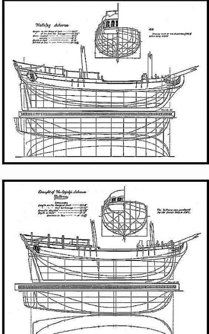 Schooner Nancy 1789 ship model plans