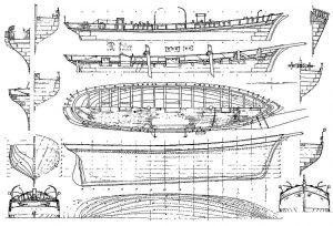 Schooner Rinso XIXc ship model plans