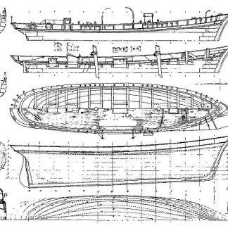 Schooner Rinso XIXc ship model plans