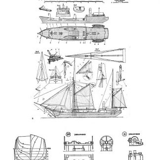 Schooner Saint Martyr Foka 1909 ship model plans