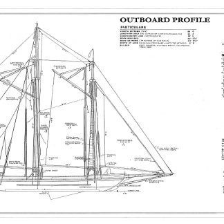 Schooner Scow Alma 1891 ship model plans