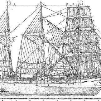 Schooner Vega 1902 ship model plans