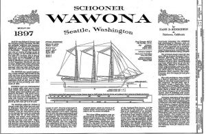 Schooner Wawona 1897 - Baltimore ship model plans