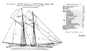 Schooner Yacht Sappho 1880 ship model plans