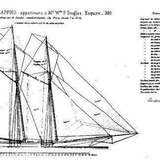 Schooner Yacht Sappho 1880 ship model plans