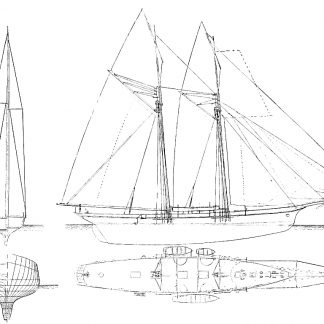 Schooner Yacht Velox 1875 ship model plans