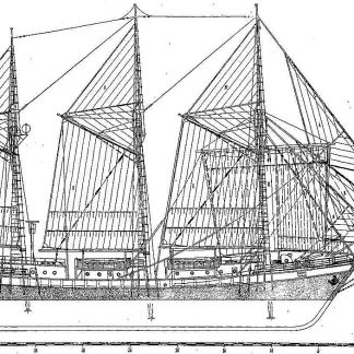 Schooner Zarya 1953 ship model plans