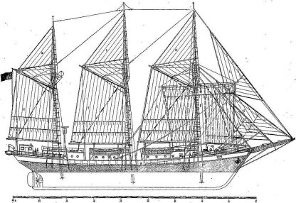 Schooner Zarya 1953 ship model plans